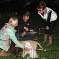 Gov. Sarah and Todd Palin visit the Puppy Jake Foundation